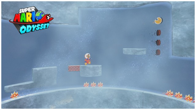 Super Mario Odyssey - pays neiges 3