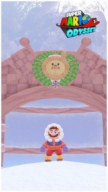 Super Mario Odyssey - pays neiges 6