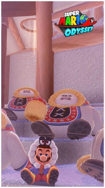 Super Mario Odyssey - pays neiges 9