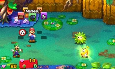 Mario et Luigi Superstar Saga - combat