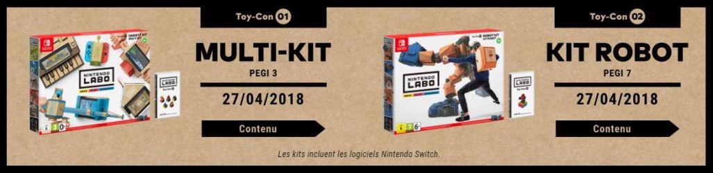 Nintendo Labo - kits