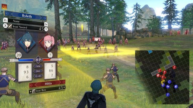 FireEmblem ThreeHouses - carte