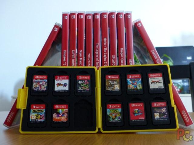 Boitier de rangement pour jeux Switch - collection de jeux Switch