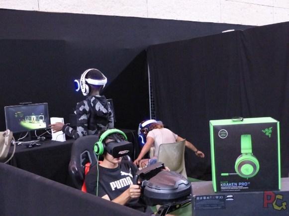 Japan Aurea 11ème édition - stand de jeu vidéo en réalité virtuelle