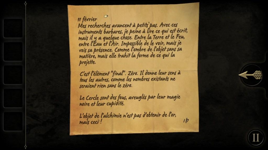 The Room Switch - première lettre laissée par AS