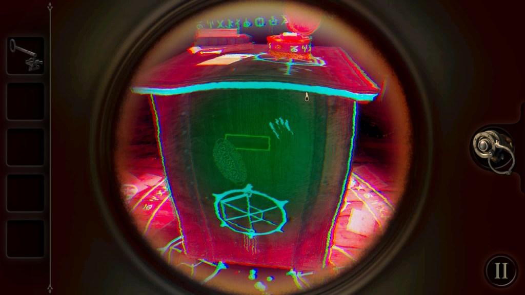 The Room Switch - vision de la boîte avec oculaire