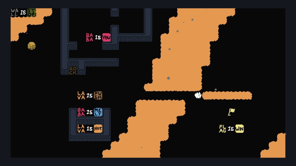 Test Baba is You Switch - règles détournées