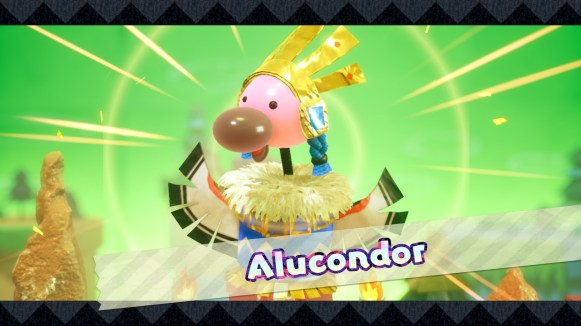 Yoshi Crafted World Switch - boss Alucondor