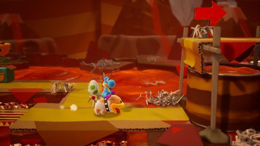 Yoshi Crafted World Switch - niveau avec Poochy