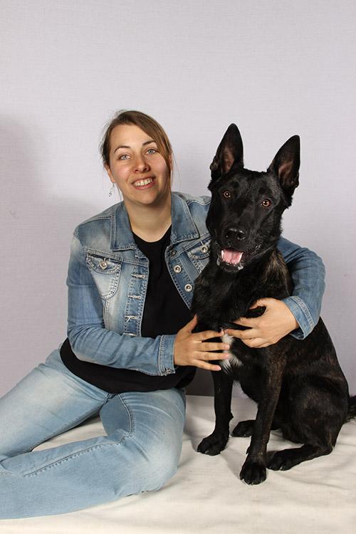 Yunicia Akiko et son chien