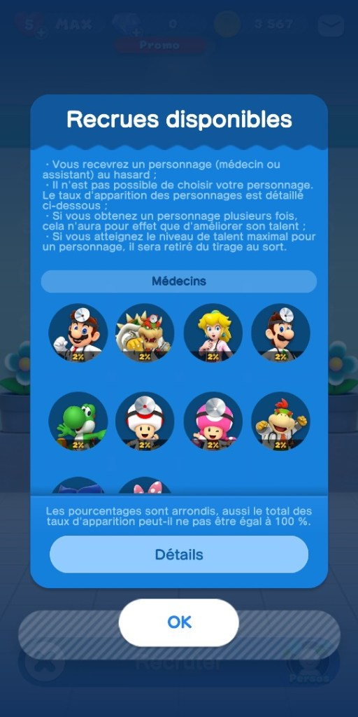 Dr Mario World - medecins possibles