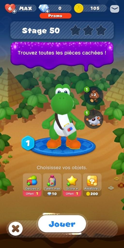 Dr Mario World - niveau mode aventure