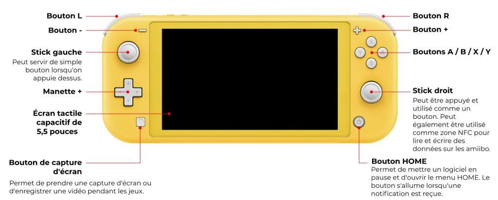 Nintendo Switch Lite - caractéristiques