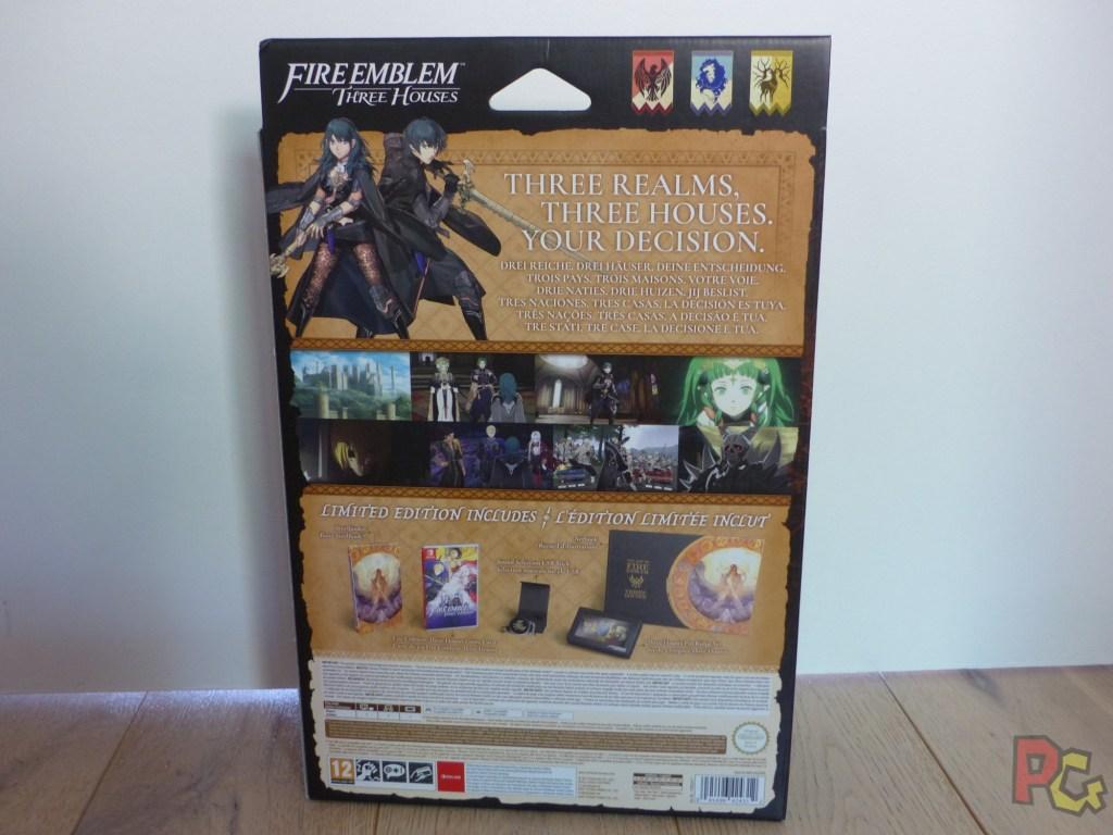 Unboxing Fire Emblem Three Houses - arrière boîte