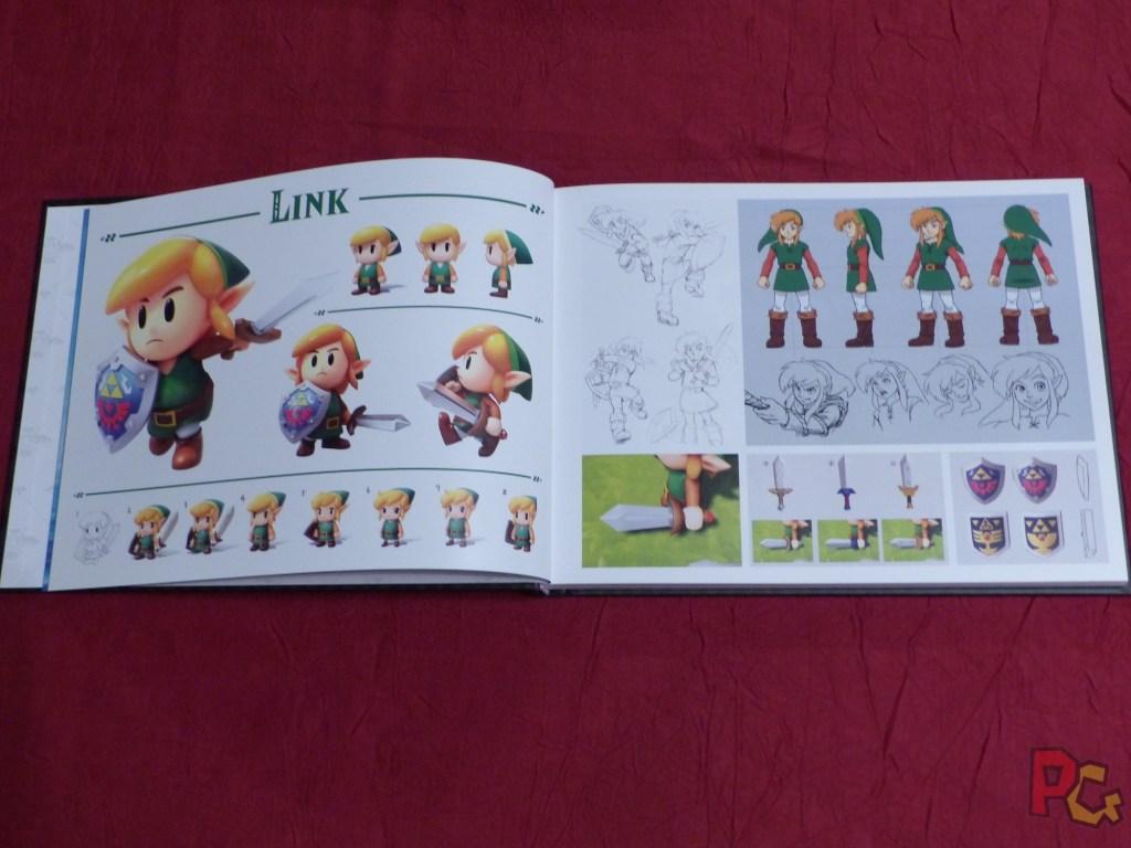 Collector Zelda Link's Awakening - artbook intérieur