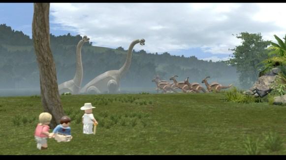 Lego Jurassic World - arrivée à Jurassic Park