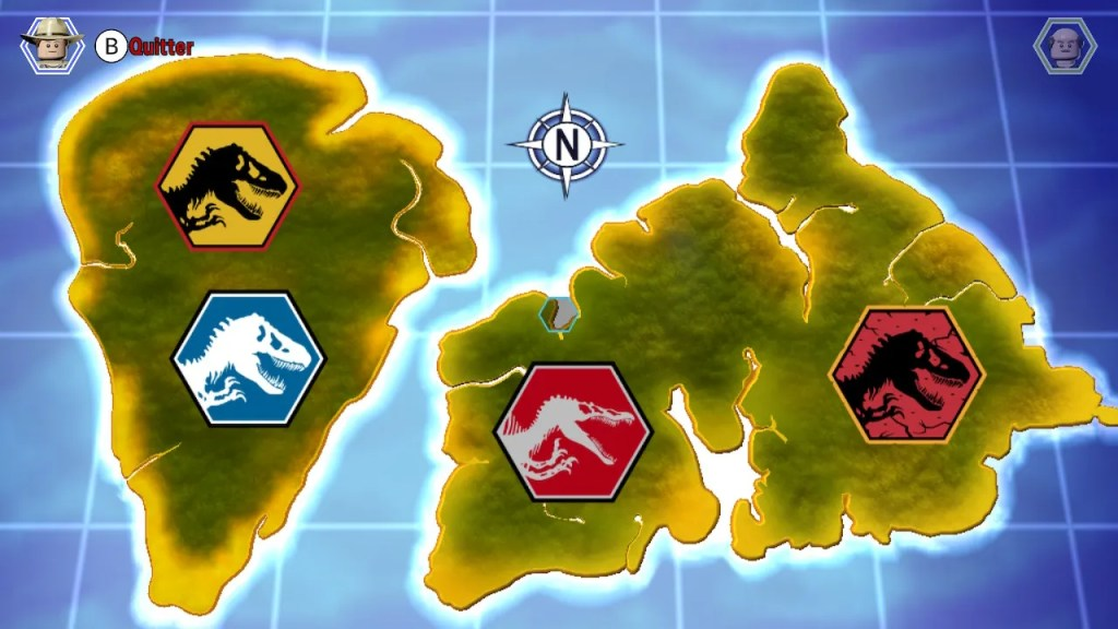 Lego Jurassic World - carte iles