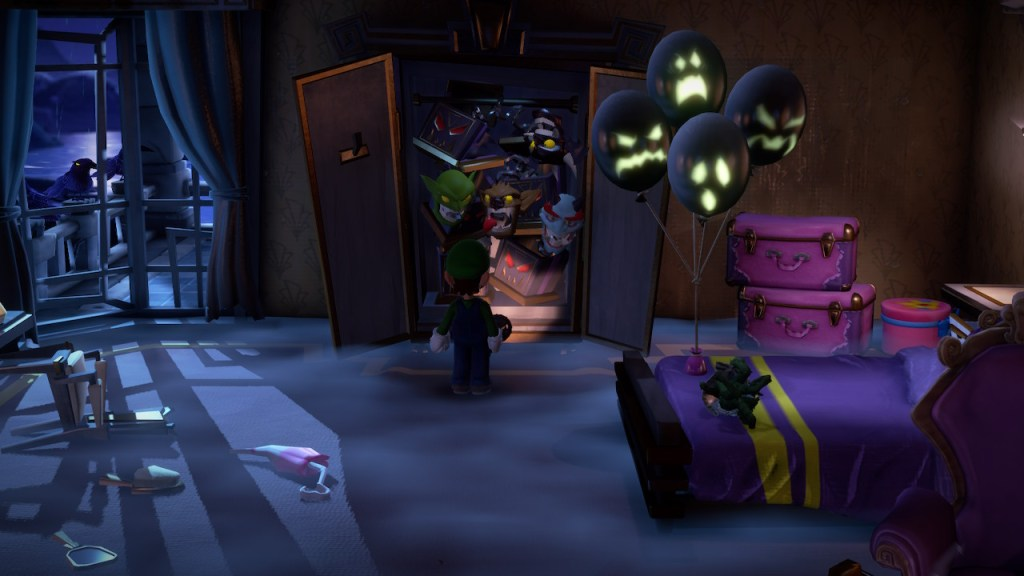 Luigis Mansion 3 - chambre lugubre