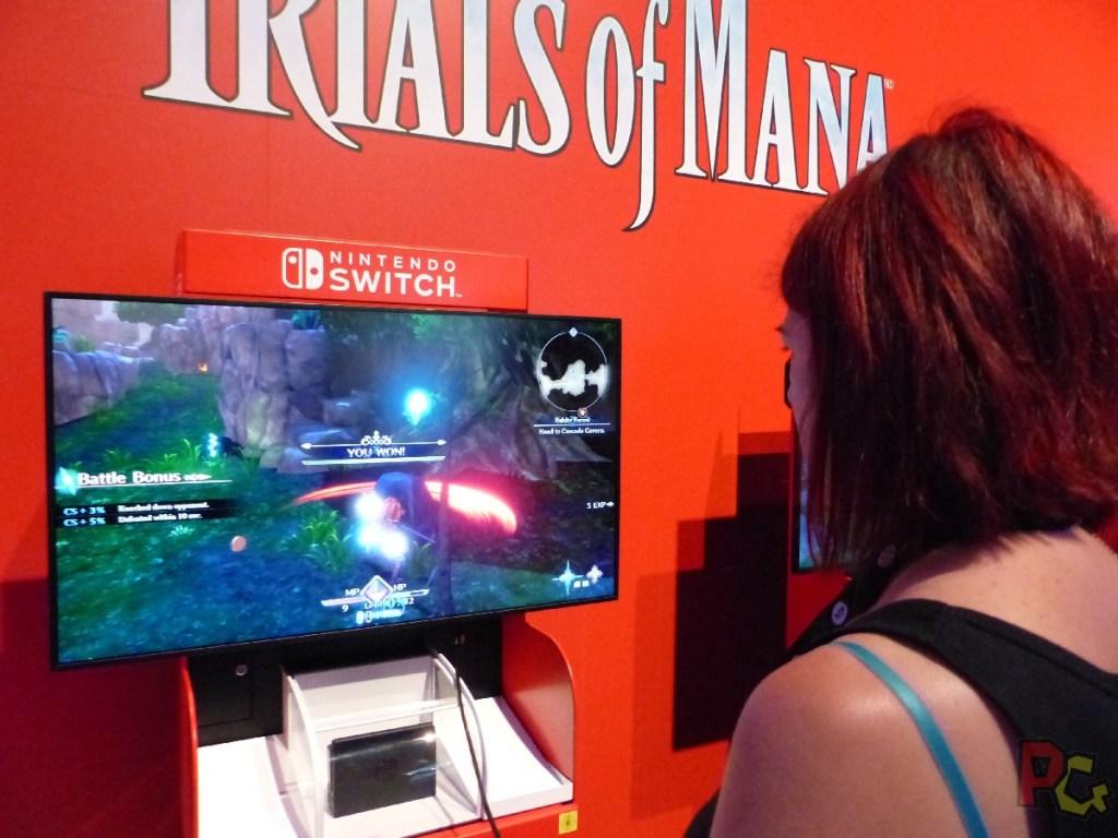 Nintendo GC2019 - Trials of Mana combat