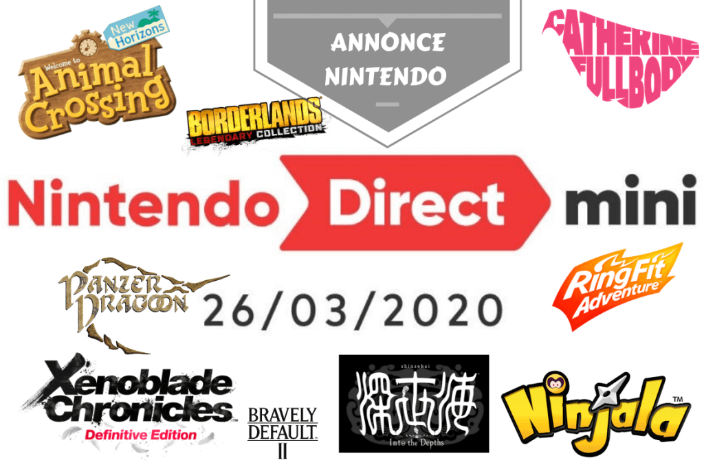 Nintendo Direct mini 26 mars 2020