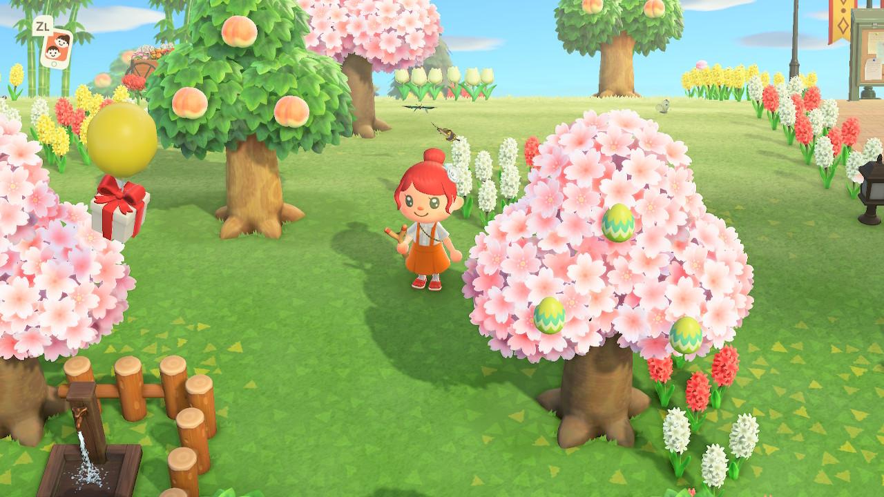 ACNH - oeufs dans arbre
