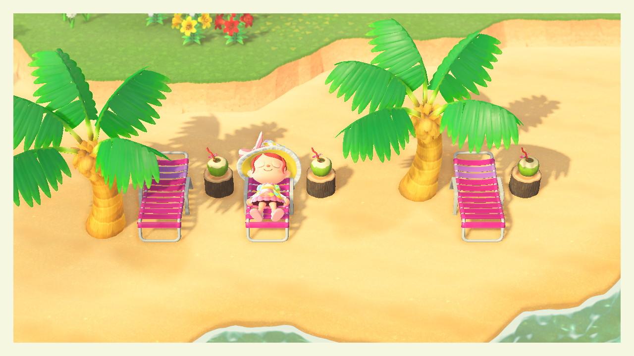 ACNH - plage amenagée