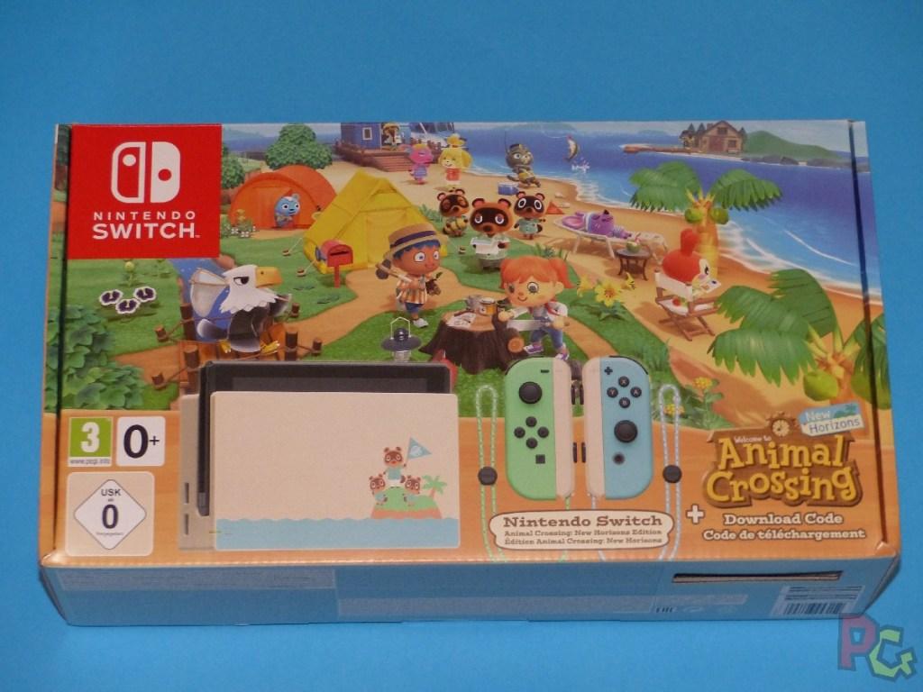 Switch édition limitée ACNH - boîte recto