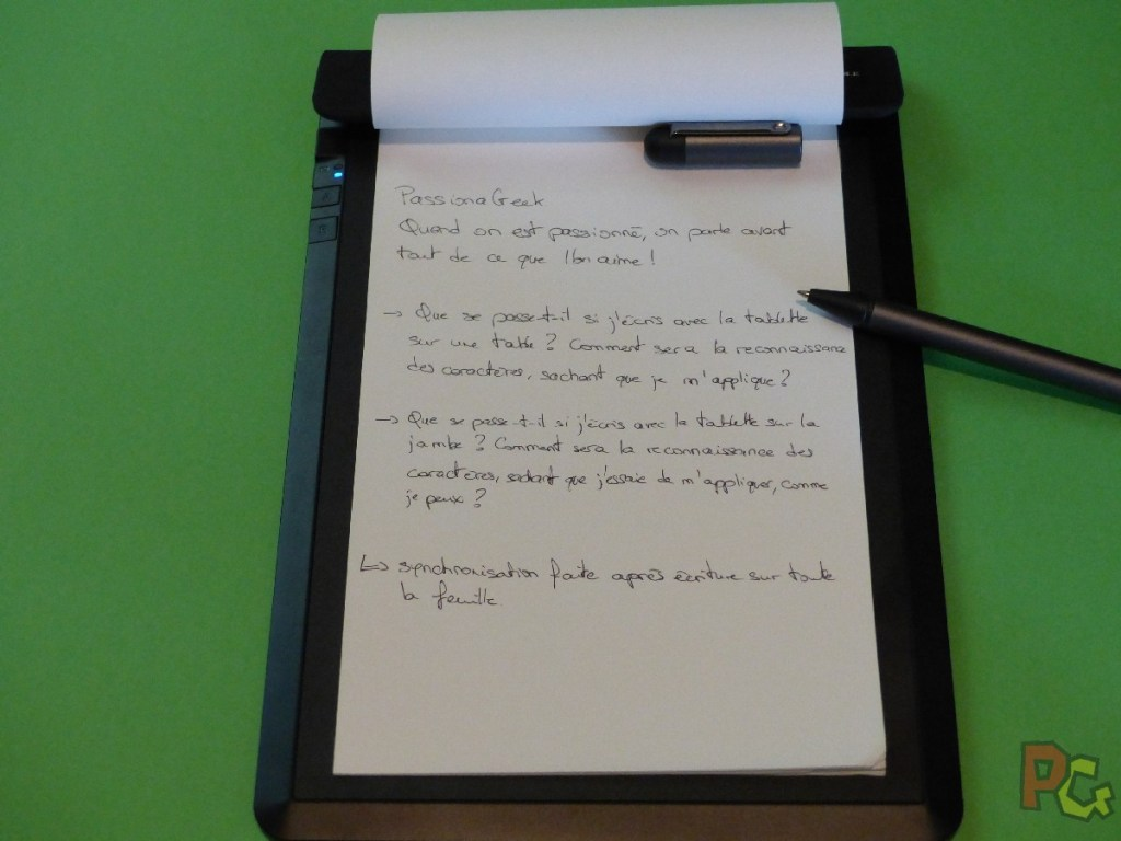 Tablette RoWrite - Texte