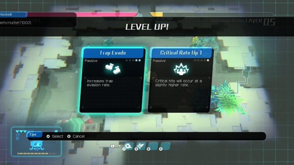 Void Terrarium - montée de niveau