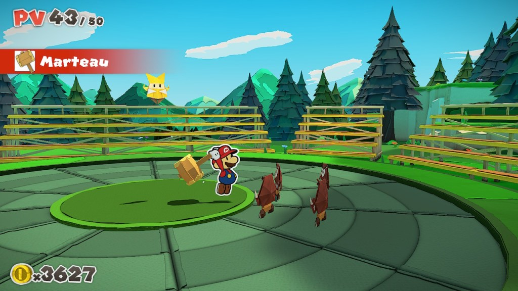 Paper Mario The Origami King - combat marteau