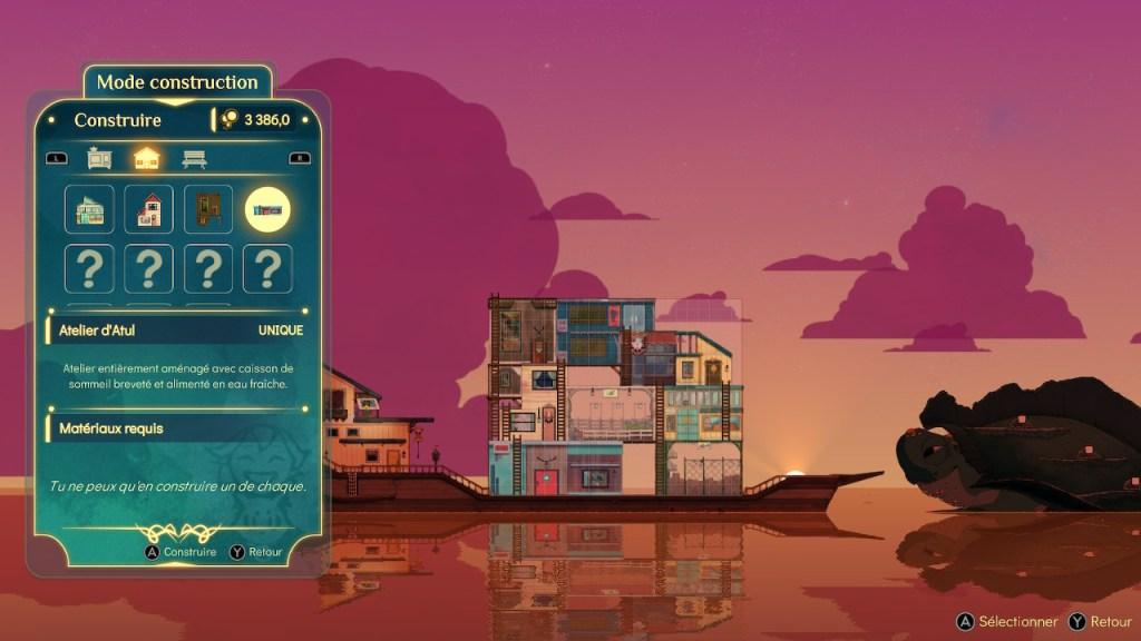 Spiritfarer - construction bateau