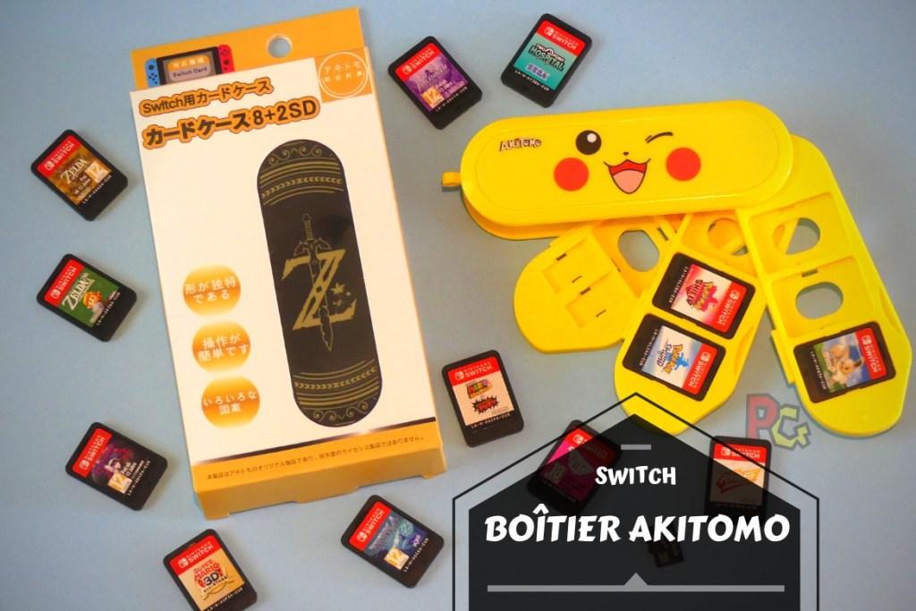Bannière boitier Akitomo cartouches Switch