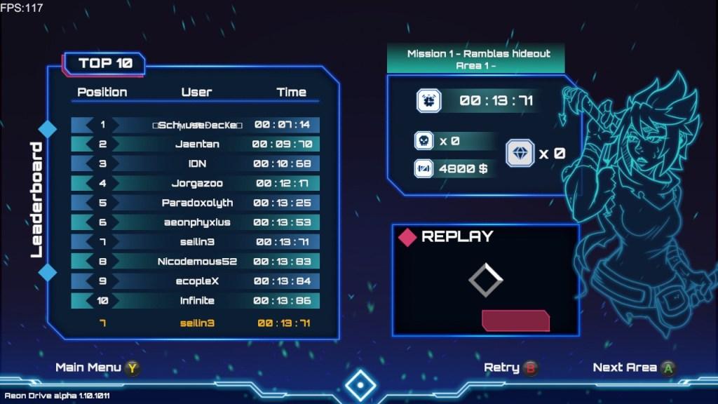 Aeon Drive scores