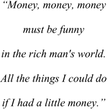 Money as Power
