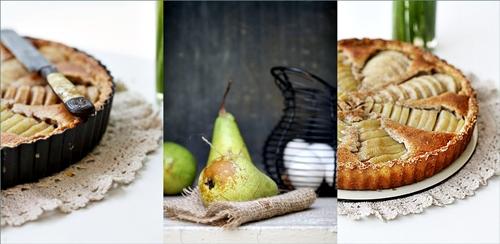 Pear, Vanilla and Almond Frangipane Tart