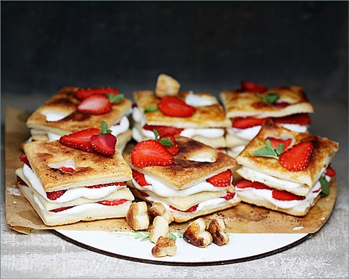 Strawberry-Whipped-Lemon-Curd-Napoleans5 Baking| Strawberry & Whipped Lemon Curd Napoleans ... ♥Happy V Day♥