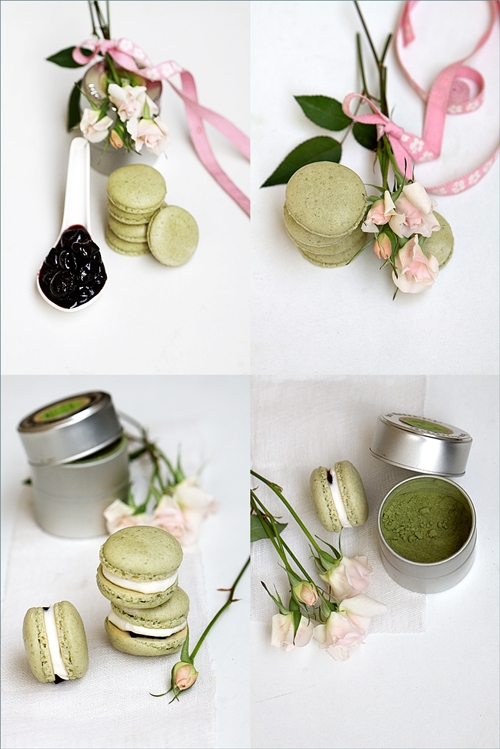 Matcha-Macarons-with-Mascarpone-Cherry-Filling-10 Baking | Matcha Macarons with Preserved Brandied Cherries & Mascarpone ... tribute to the spirit of Japan