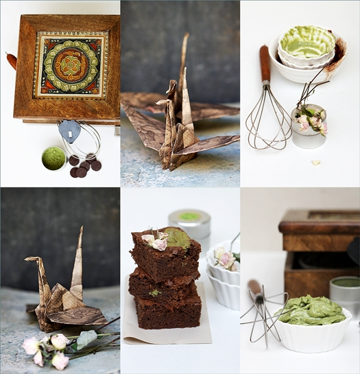 Chocolate Matcha Olive Oil Brownies