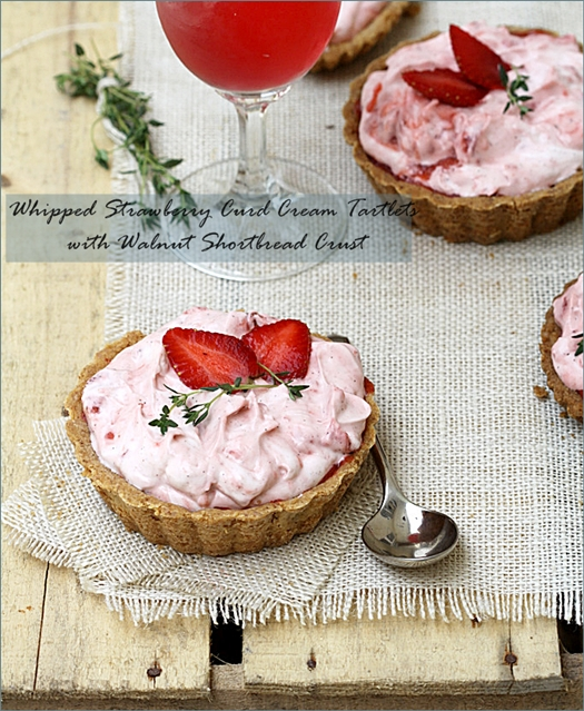 Baking|Whipped Strawberry Curd Cream Tartlets with Walnut Shortbread Crust – Edible containers for Daring Bakers