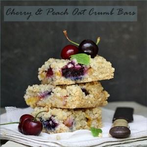 Cherry & Peach Oat Crumb Bars