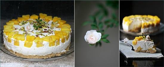 Upside Down Mango Quark Cheese Pie
