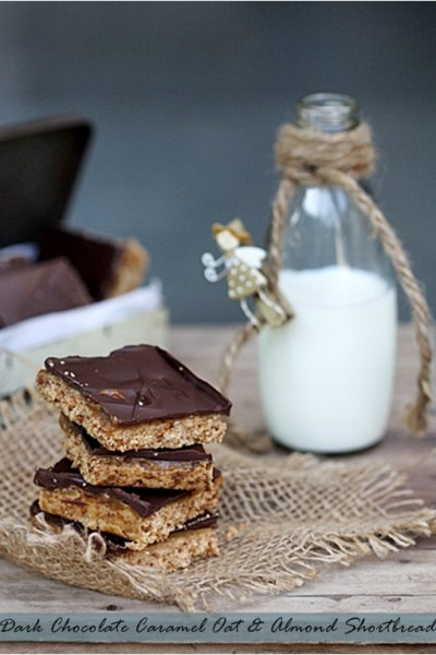 Holiday Baking| Dark Chocolate Caramel Oat & Almond Shortbread {vegetarian}