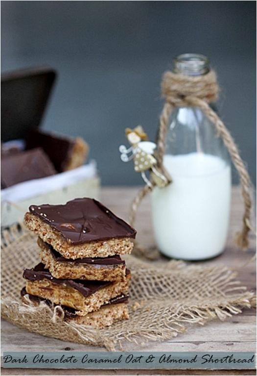 ... Baking| Dark Chocolate Caramel Oat & Almond Shortbread {vegetarian