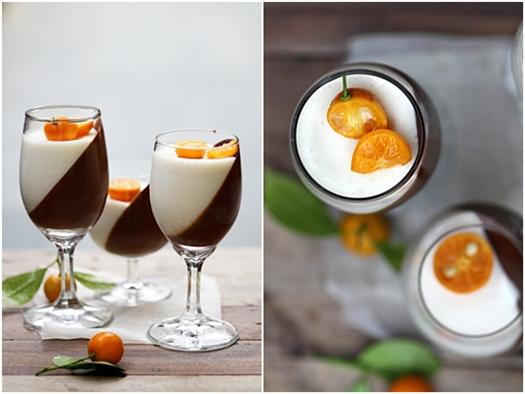 Dark Chocolate & Orange Panna Cotta