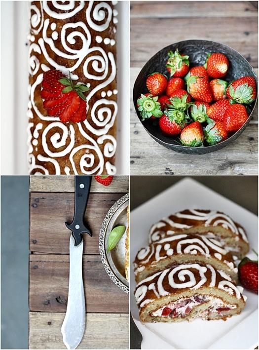 Strawberry Almond Roulade {Gluten Free}