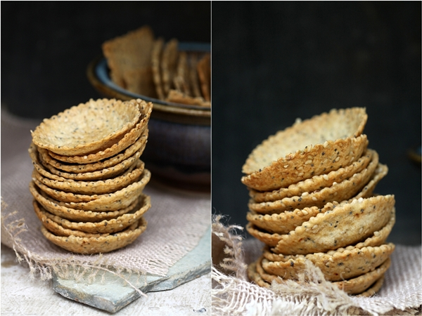 Seedy Crisps for Canapes