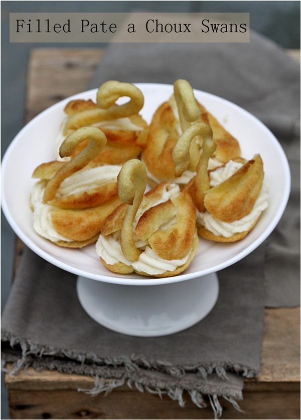 Baking | Filled Pate a Choux Swans – Daring Bakers, Ugly Ducklings and Swans