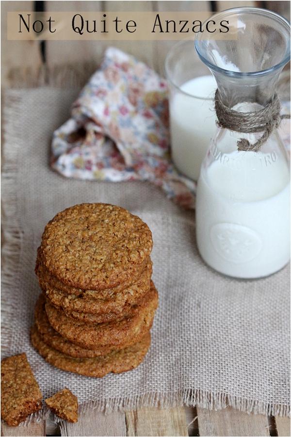 Baking   Not Quite Anzacs … Eggless Oat & Walnut Cookies