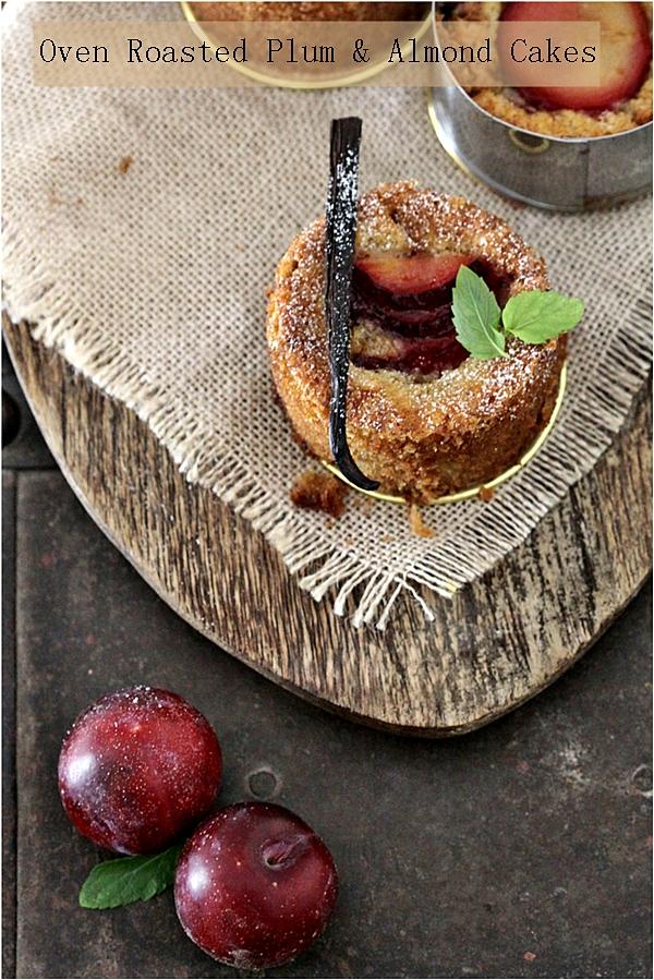 Baking   Oven Roasted Plum & Almond Cakes … Happy 100th Birthday Julia