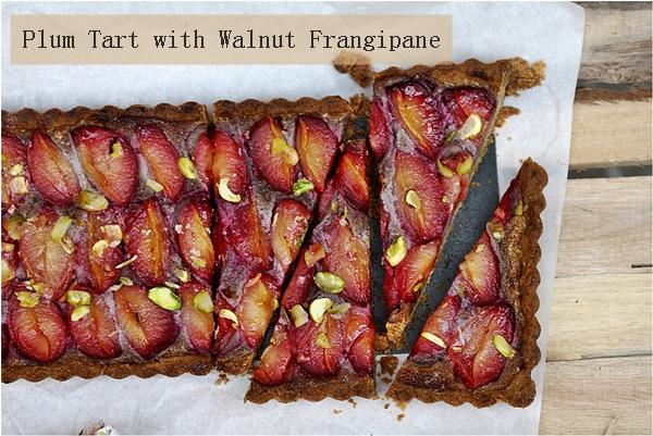 Plum Tart with Walnut Frangipane
